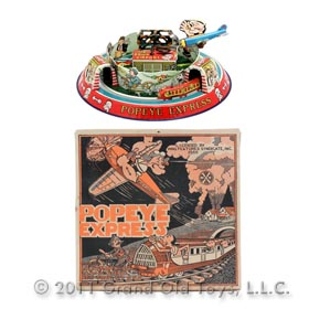 1936 Marx Popeye Honeymoon Express In Original Box