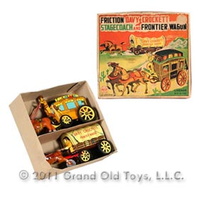 c.1957 Linemar Davy Crockett Stagecoach Wagon In Original Box
