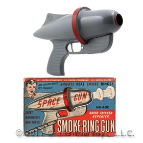 1954 Nu-Age Products Smoke Ring Gun In Original Box