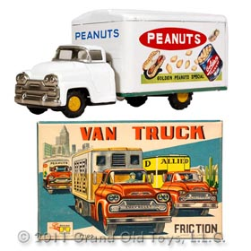 c.1956 Chevrolet Golden Peanuts Truck In Original Box