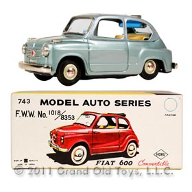 c.1959 Bandai Fiat 600 Convertible In Original Box