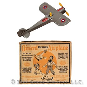 1923 Girard/Marx No 6 Mechanical Airplane In Original Box