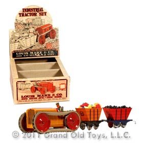 1930 Marx Industrial Tractor Set In Original Box
