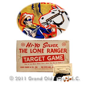 1938 Marx Hi Yo Silver The Lone Ranger Target Game In Original Box