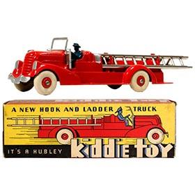c.1946 Hubley, Kiddie Toy Hook & Ladder Truck in Original Box
