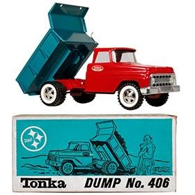 1967 Tonka, No. 406 Dump Truck in Original Box