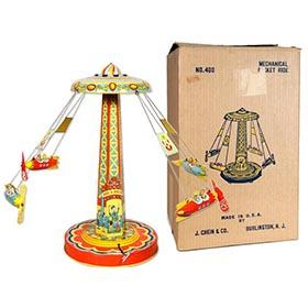 1952 Chein, No. 400 Mechanical Rocket Ride in Original Box