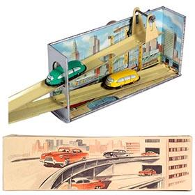 1952 Technofix No.266 Twin Car Elevator in Original Box