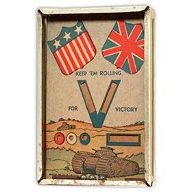 c.1941 WW2 Keep 'Em Rolling For Victory Dexterity Game