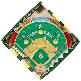c.1962 Marx Baseball Pinball Game in Original Box