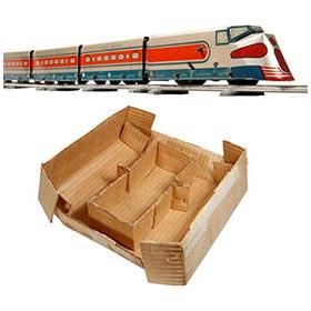 c.1949 Mechanicraft Silver Meteor Train Set in Original Box
