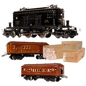 1922 American Flyer Box Cab Locomotive, Mail & Pullman Cars