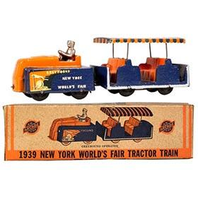 1939 Arcade NY World's Fair Tractor Train in Original Box
