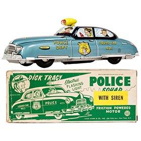1949 Marx Dick Tracy Police Squad Car in Original Box