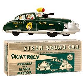 1949 Marx, Dick Tracy Siren Squad Car in Original Box