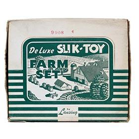 c.1948 Lansing, Slik-Toy Deluxe Farm Set in Original Box