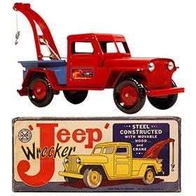 c.1948 Marx Jeep Wrecker Truck in Original Box