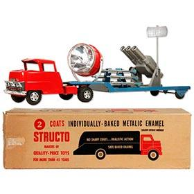 1959 Structo Mobile Anti-Missile Radar Truck in Original Box