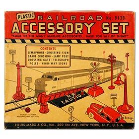 c.1952 Marx Railroad Accessory Set in Original Box