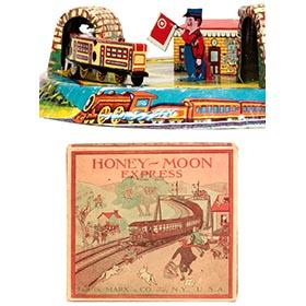 1926 Marx Honeymoon Express with Flagman in Original Box