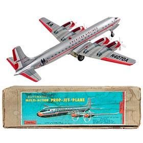 c.1960 Yonezawa American Airlines Plane in Original Box