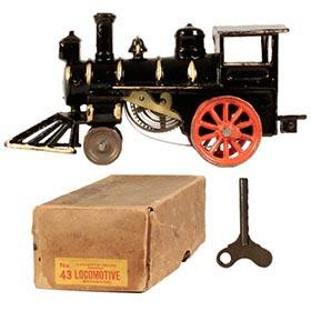 1906 Hubley, No.43 Mechanical Locomotive in Original Box
