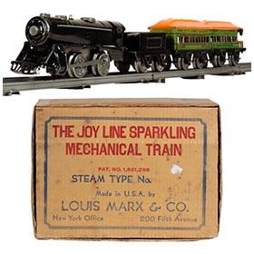 c.1931 Marx 4pc. Joy Line Mechanical Train Set in Original Box
