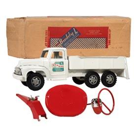 1957 Buddy L No. 5840 Sit-N-Ride Towing Service Wrecker in Original Box