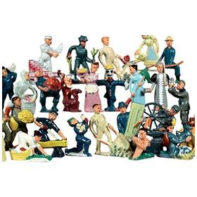 1940 Manoil Happy Farm Series, 28 Different Figures