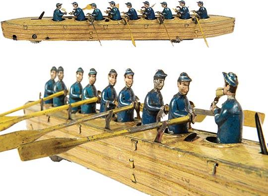 1910 Issmayer, Eight Man Racing Scull with Coxswain