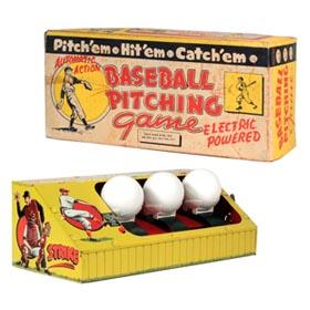 1958 Marx, Electric Automatic Baseball Pitching Game in Original Box
