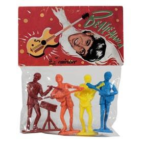 c.1980 Beatlemania, 4 Marx-like Playset Beatle Figures in Sealed Original Bag