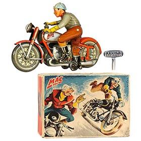 1947 Arnold MAC 700 Motorcycle (Red Version) in Original Box