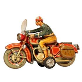 "1955 Tipp & Co., No. 598F Large Friction ""Touring Motorcyclist"
