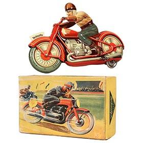 1951 Technofix No.258 Racing Motorcyclist in Original Box