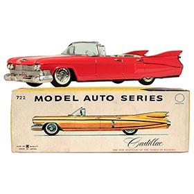 1959 Bandai Cadillac 4-dr Convertible in Original Box