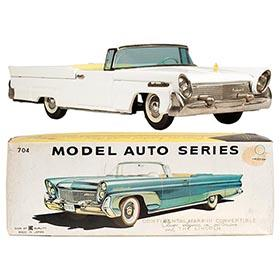 1958 Bandai, Lincoln Continental Mark III Convertible in Original Box