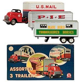 c.1954 Shioji, GMC Tractor Trailer Truck Set in Original Box