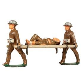 c.1939 Manoil, Stretcher Carriers with Stretcher and Wounded Soldier (Lying)