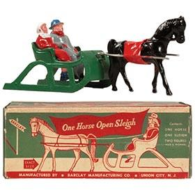 c.1947 Barclay, No. 510 One Horse Open Sleigh in Original Box