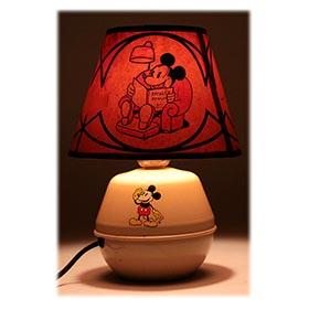 1935 Soreng-Manegold, Mickey Mouse Lamp with Rare Original Shade