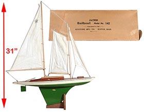 1930 Jacrim Mfg. (Keystone), No.142 Seaworthy Schooner in Original Box