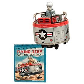 c.1955 Suzuki & Edwards, Battery Operated Flying Jeep in Original Box