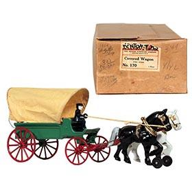 1950 Kenton, No. 170 Two Horse Covered Wagon in Original Box
