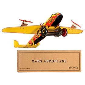 c.1940 Marx Army Flying Fortress Aeroplane in Original Box