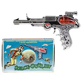 c.1960 B.C.M. Space Outlaw Pistol in Original Box