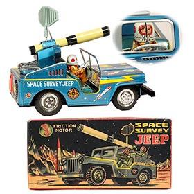 c.1955 Toymaster, Space Survey Jeep in Original Box