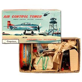c.1961 Bandai Battery Operated Air Control Tower in Original Box 2
