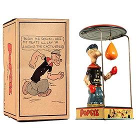 1932 Chein, Popeye (Overhead) Bag Puncher in Original Box