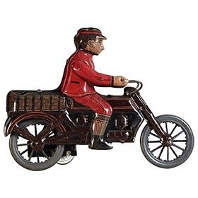 c.1920 Distler, Clockwork Messenger Boy Motorcyclist